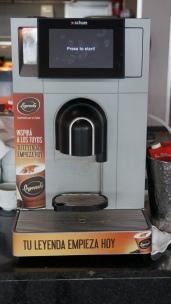全自動咖啡機:觸控螢幕感覺很高級!