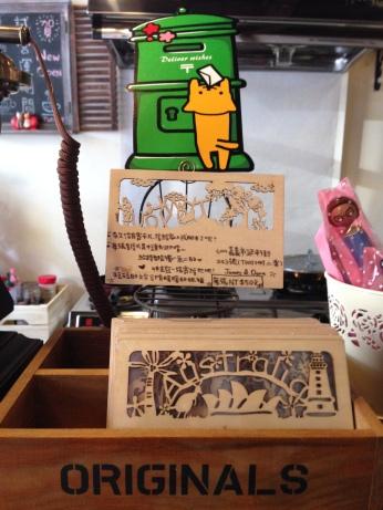 木製明信片,蠻特別的!